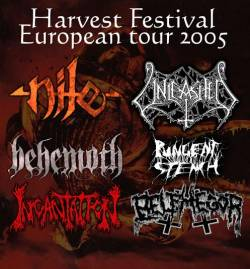 Nile + Unleashed + Behemoth + Pungent Stench + Incantation + Belphegor