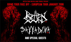 Grind Your Face Off – Rotten Sound + Sayyadina + Frrt + Autist
