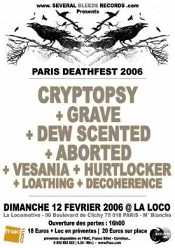 Cryptopsy + Grave + Dew Scented + Aborted + Vesania + Loathing + Decoherence