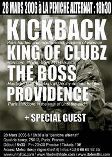 Kickback + King Of Clubz + The Boss + Providence