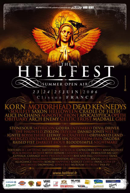 Hellfest 2006 – 23/24/25 juin 2006 – Clisson – France