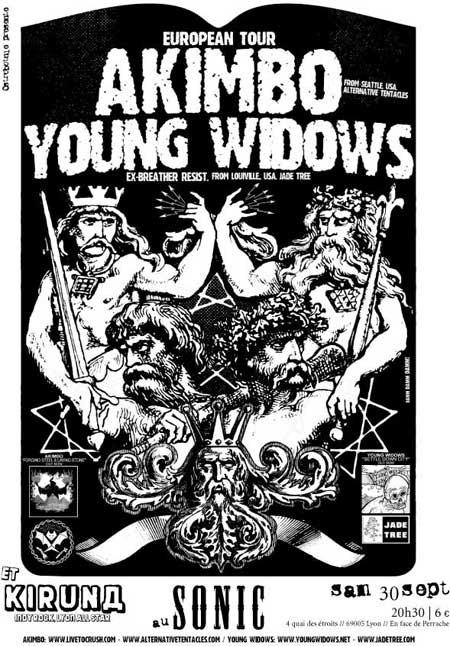 Akimbo + Young Widows – 30 septembre 2006 – Le Sonic – Lyon