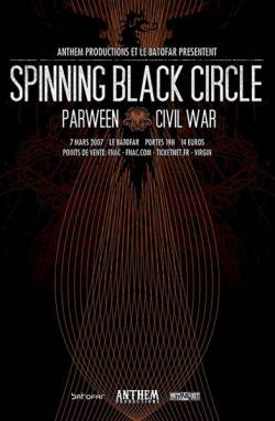 Spinning Black Circle + Parween + Civil War