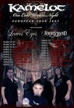 Kamelot + Leave's Eyes + Fairyland