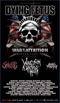 Dying Fetus + Cephalic Carnage + Skinless + Cattle Decapitation + War From Harlots Mouth