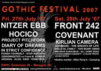 Gothic Festival 2007 – 27 juillet 2007 – Waregem – Belgique