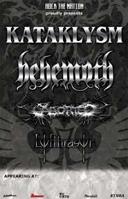 Kataklysm + Aborted + Lyfthrasyr
