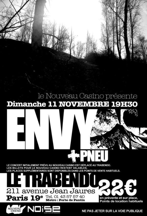 Envy + Pneu – 11 novembre 2007 – Trabendo – Paris