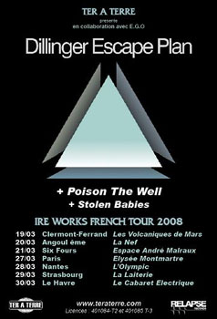 The Dillinger Escape Plan + Poison The Well + Stolen Babies