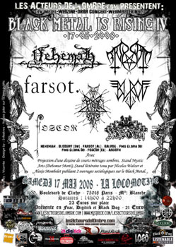 Black Metal Is Rising IV – Nehemah + Blodsrit + Farsot + Finis Gloria Dei + Balrog + Foscor + Aosoth