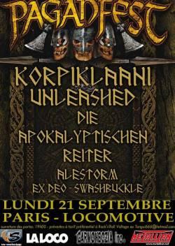 Korpiklaani + Unleashed + Die Apokalyptichen Reiter + Alestorm + Ex Deo + Swashbuckle