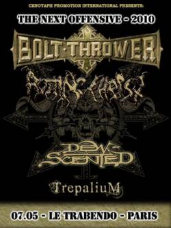 Bolt Thrower + Rotting Christ + Dew-Scented + Trepalium