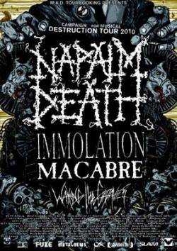 Napalm Death + Immolation + Macabre + Waking the Cadaver