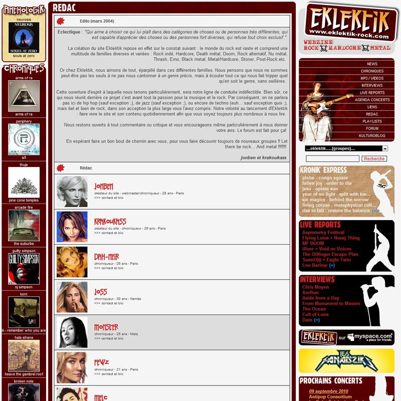 1er Edito – mars 2004