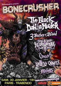 The Black Dahlia Murder + 3 Inches of Blood + Necrophobic + Obscura + Carnifex + The Faceless + Ingested