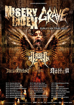 Misery Index + Grave + Arsis