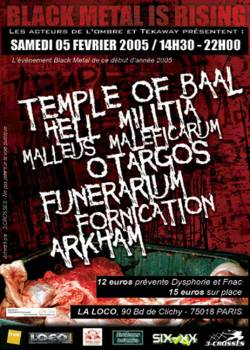 Black Metal is Rising I – Malleus maleficarum + Temple Of Baal + Hell militia + Arkhan + Otargos + Funerarium + Fornication