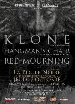 Klone + Hangman's Chair + Red Mourning