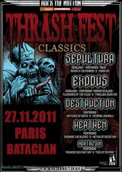 Sepultura + Exodus + Destruction + Heathen + Mortal Sin