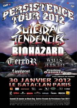 Suicidal Tendencies + Biohazard + Terror + Walls Of Jericho + Lionheart + Crushing Caspars