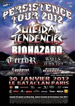 Suicidal Tendencies + Biohazard + Terror + Walls Of Jericho + Lionheart + Crushing Caspars