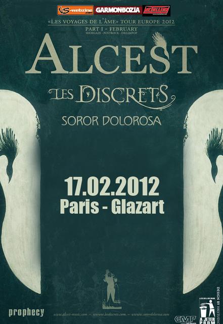 Alcest / Les Discrets / Soror Dolorosa – Le Glaz'Art – Paris (17/02/2012)