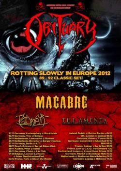 Obituary + Macabre + Psycroptic + The Amenta