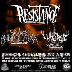 Leng Tch'e + Resistance + Savage Annihilation + Whisper Of Death