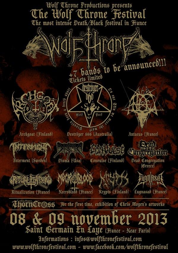 Retour sur le Wolfthrone Fest : 3 albums de death metal à écouter