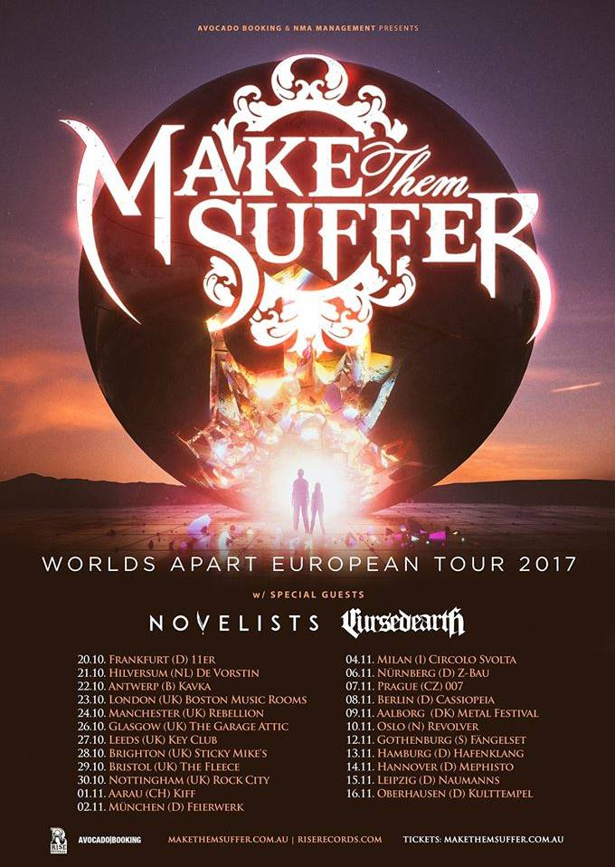 Live-report: Make Them Suffer/Novelists/Cursed Earth