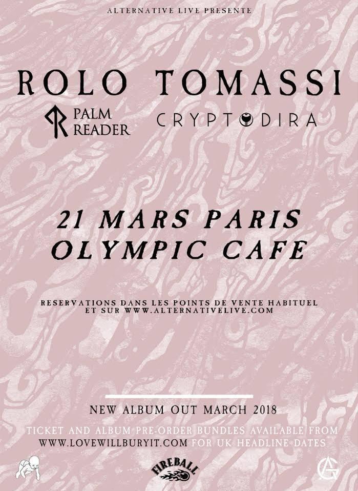 Rolo Tomassi en concert à Paris demain mercredi 21 mars