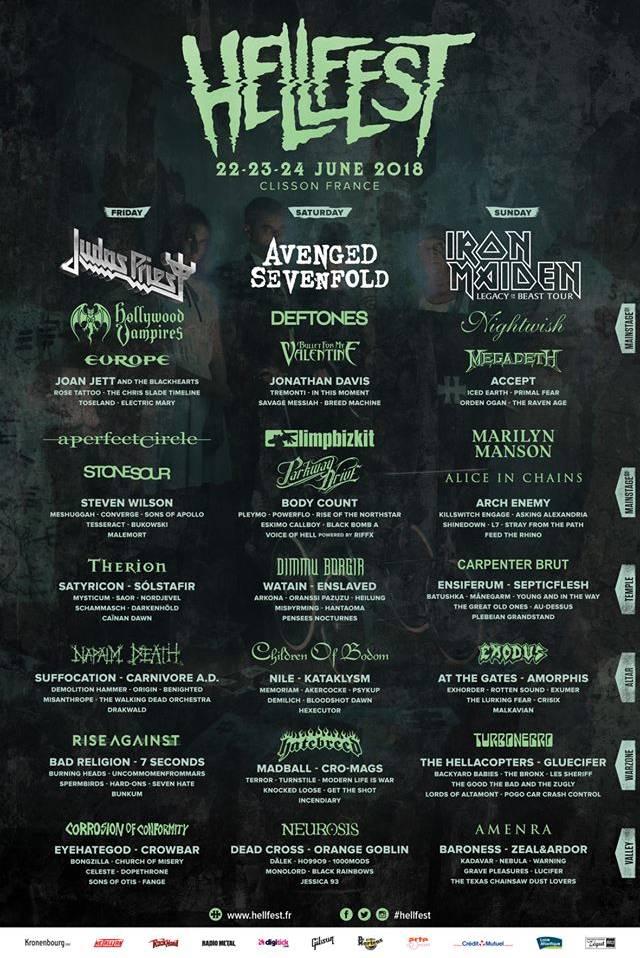 Ma sélection pour le Hellfest 2018